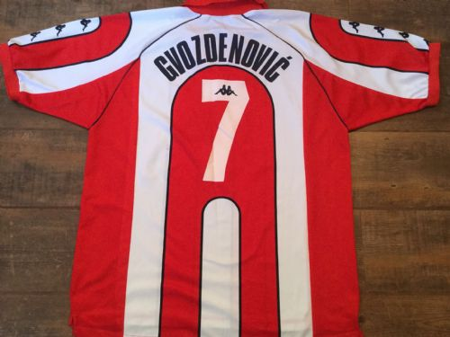 2000 2001 Red Star Belgrade Player Issue Gvozdenovic #7 Football Shirt Adults XL